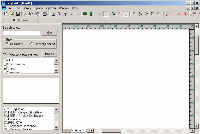 Tiny CAD software