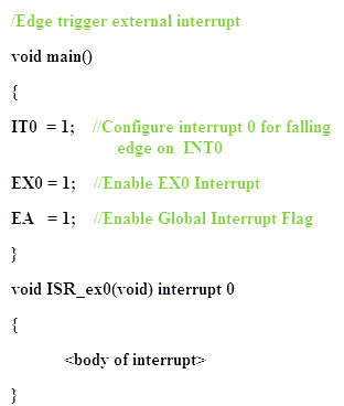 Types of Interrupts in 8051 Microcontroller | Interrupt