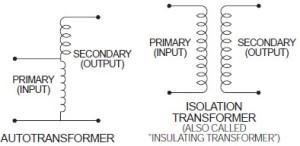 Isolation tranformer Vs Auto Transformer