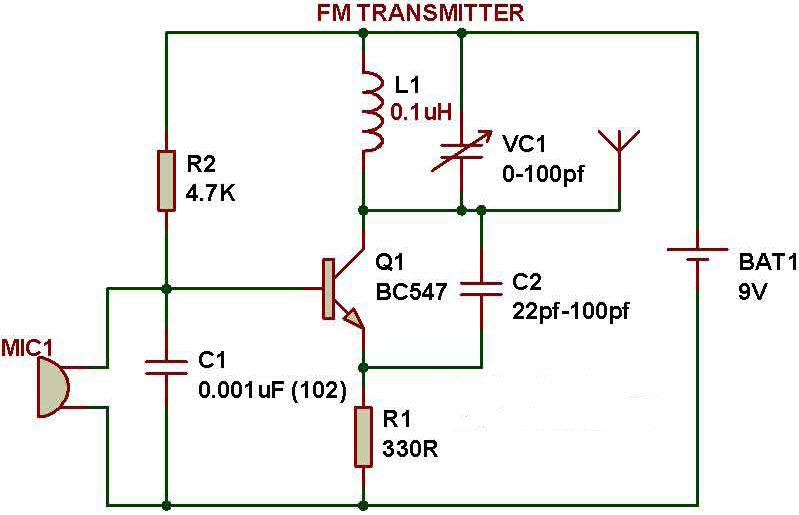simple electronic projects for beginners in electronics engineering rh elprocus com simple electronic schematic diagrams simple electronic circuit diagram project