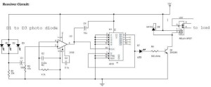IR Remote Controls receiver Switch Circuit