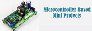 microcontroller based mini projects