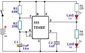 555 Timer PCB Circuit