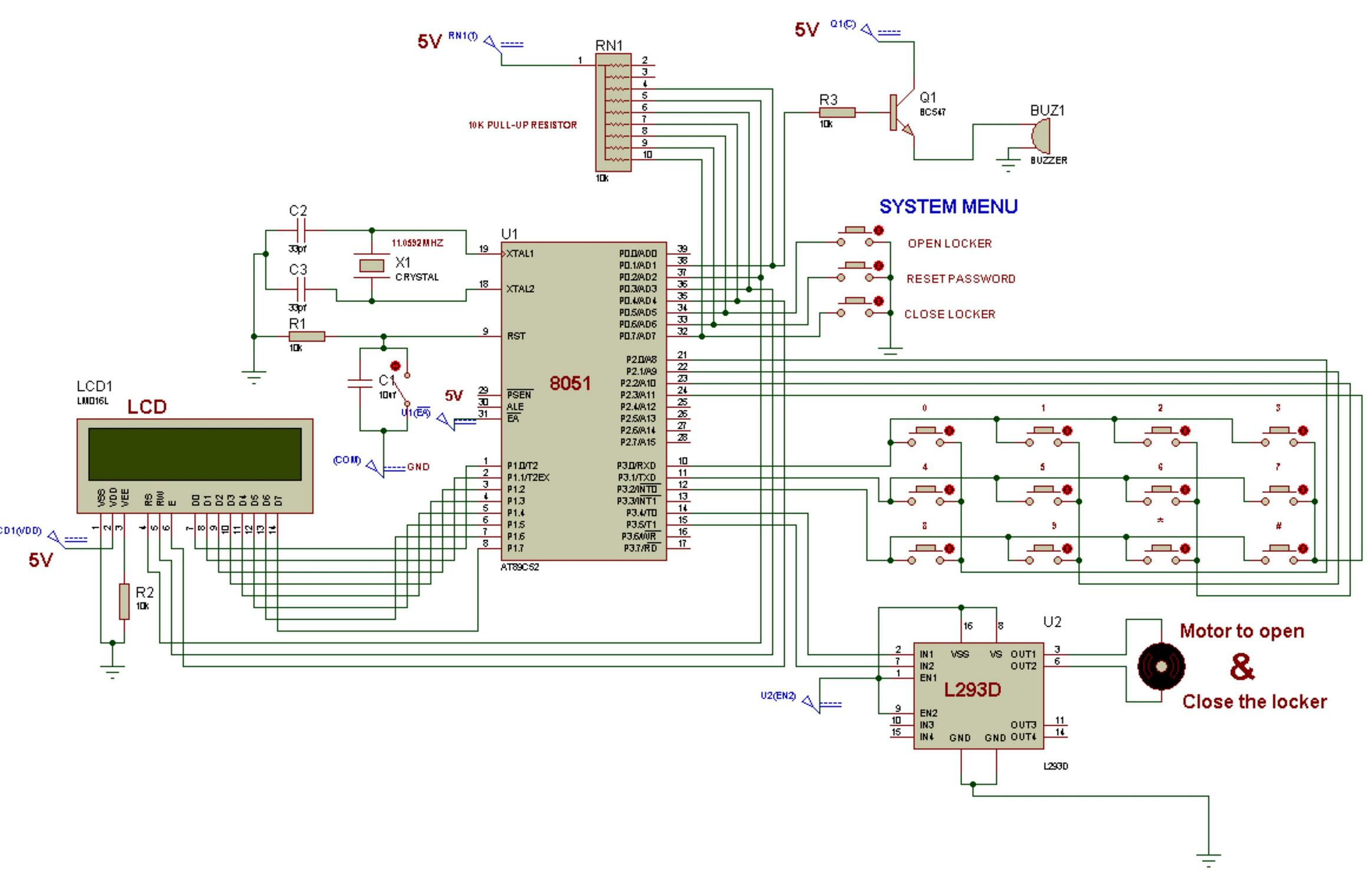 Latest Electronics Mini Projects For Engineering Students Door Opening Alarm Alert Circuit 8051 Microcontroller Based Electronic Locker System