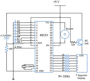 Quiz buzzer circuit using 8051 microcontroller and 555 timer quiz buzzer with an 8051 microcontroller ccuart Image collections