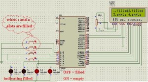 Circuit for Automatic Parking Slot Indicator using Microcontroller