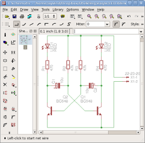 PCB cIircuit with a software