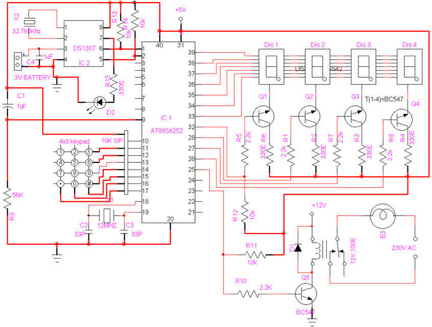 Microcontroller Based Project on Automatic School Bell Timer