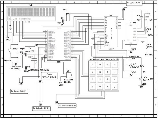 Circuit Diagram Of Home Security System