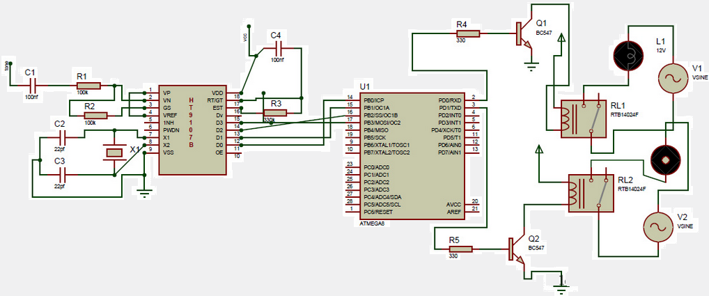 dtmf controlled home automation system with microcontrollerdtmf based home automation system circuit diagram