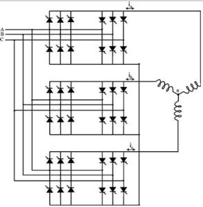 3-Ø to 3- Ø Phase Cycloconverter