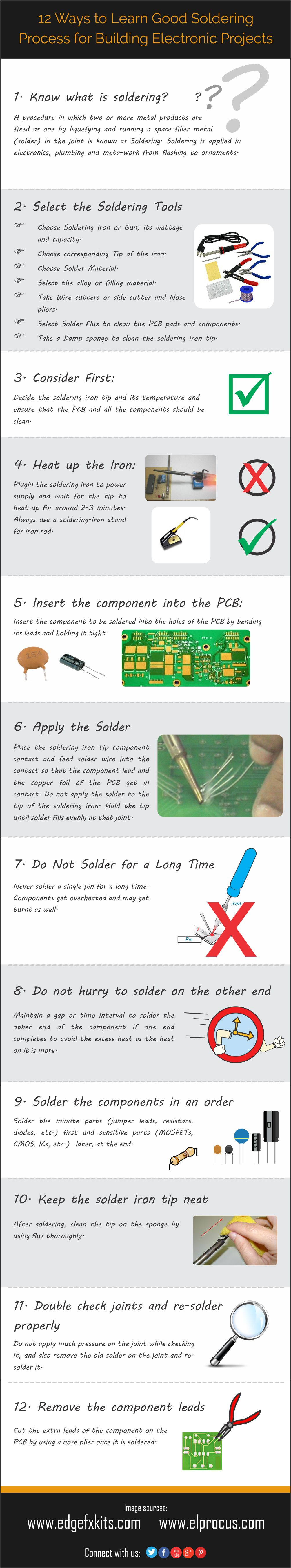 12 Ways to Learn Good Soldering Process for Building Electronic Projects