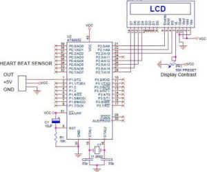 Circuit Diagram of Digital Heartbeat Monitor