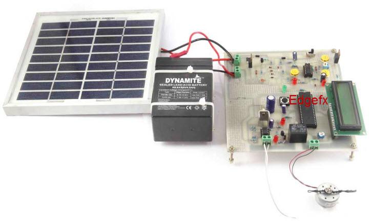 Solar Powered Auto Irrigation System Circuit by https://www.edgefxkits.com/