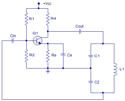 Circuit Diagram of Colpitts Oscillator