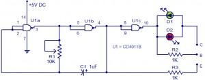LED Based Transistor Tester Project