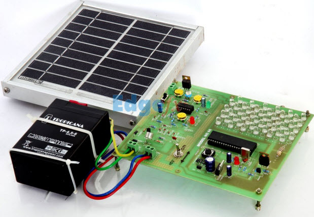 Solar Powered Portable Window Charger Working With Circuit