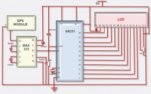 GPS Interfacing with Microcontroller Circuit Diagram