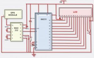 GPS Interfacing with Microcontroller Circuit Diagram