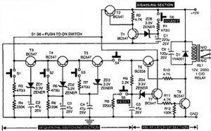 Circuit Diagram of Intelligent Electronic Lock