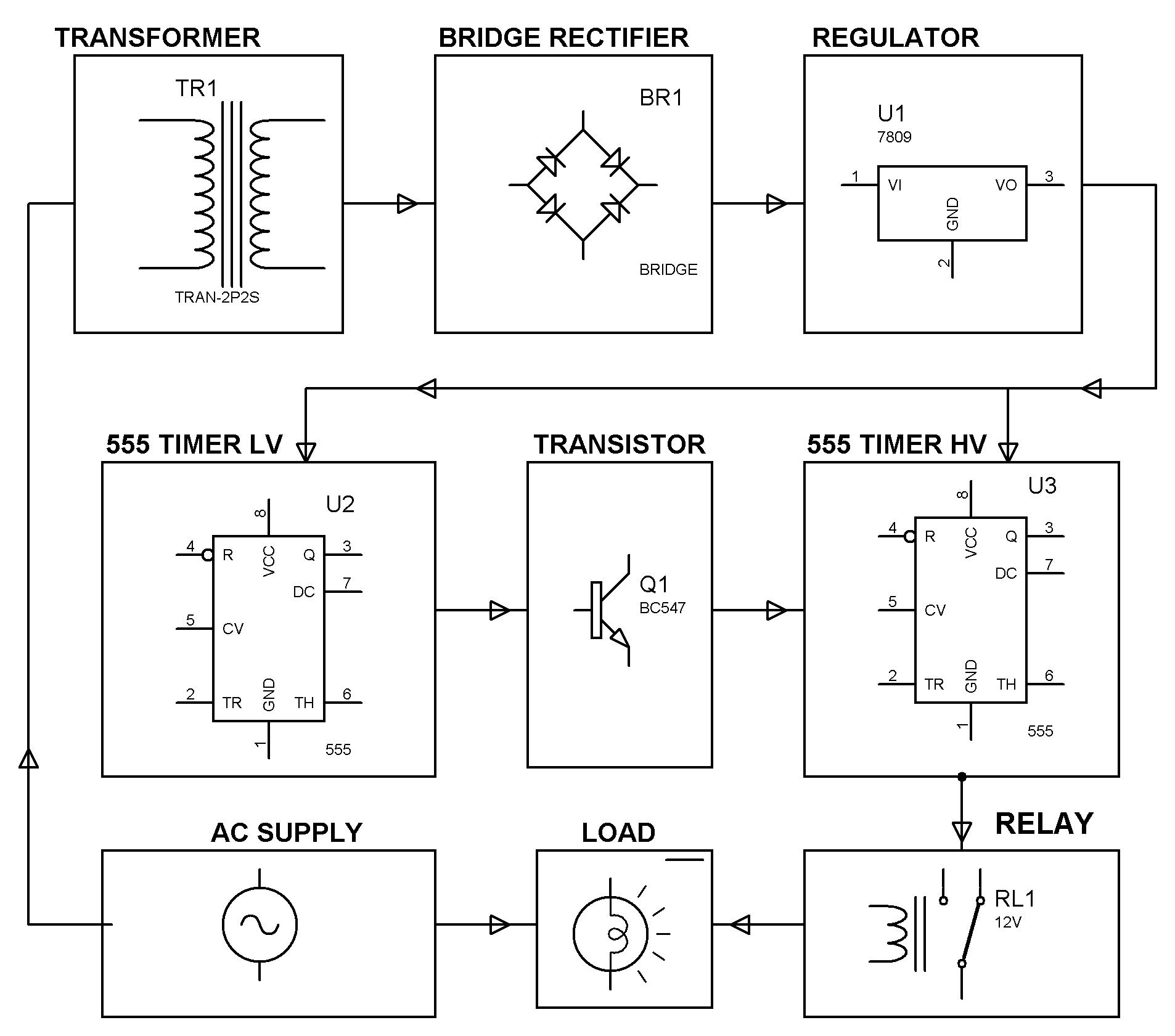 Over Voltage or Under Voltage Tripping Mechanism_Block Diagram under and overvoltage protection circuits and workings wiring diagram of under voltage release at gsmportal.co