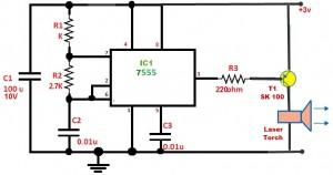 Burglar Alarm Transmitter Circuit using Laser Torch