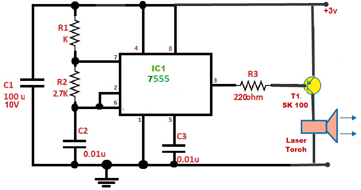 burglar alarm using laser torch jpg laser alarm system circuit diagrams wiring schematics and diagrams 717 x 378