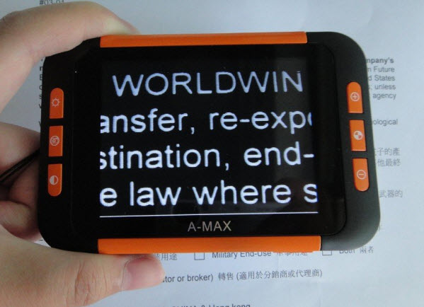 A MAX Portable Digital Magnifier