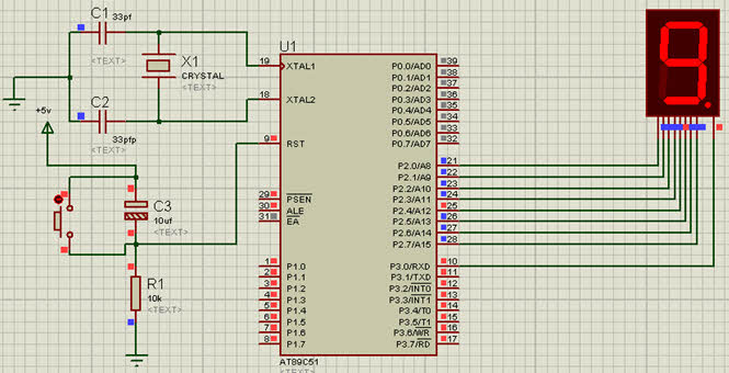 Displaying Numbers on 7-Segment Display using 8051 Microcontroller