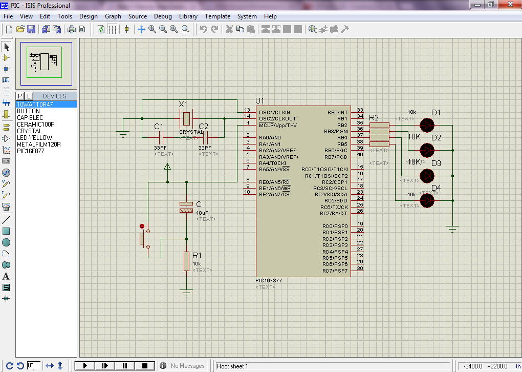 PIC Microcontroller Project Circuit Diagram