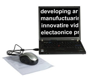 Electronic Digital Magnifier fot Text Projection