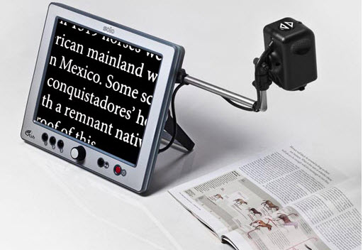 Low Vision Data Magnifier