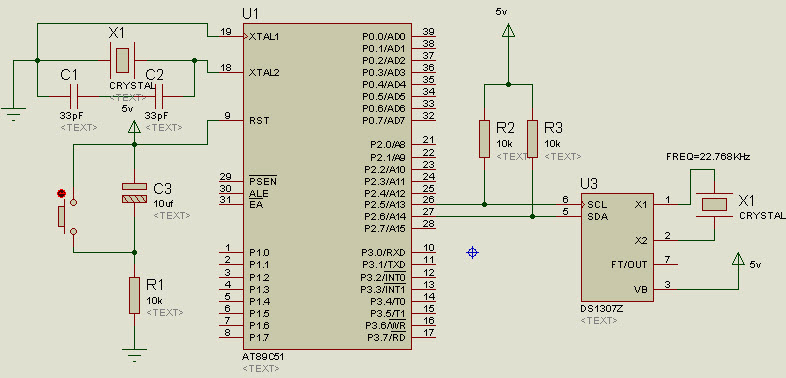 RTC Interfacing with 8051 Microcontroller