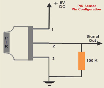 Pin Configuration of PIR