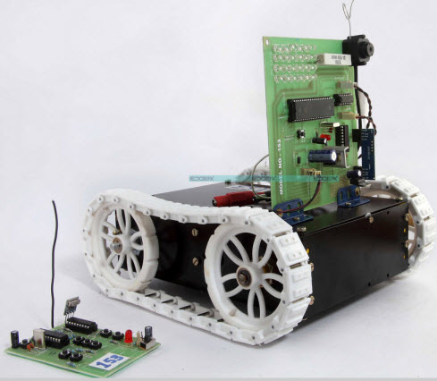 Embedded System for War Field Spying Robot by Edgefx Kits