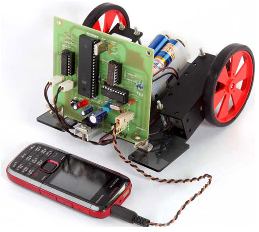 Robotic Vehicle Movement by Cell Phone Project kit by Edgefxkits.com