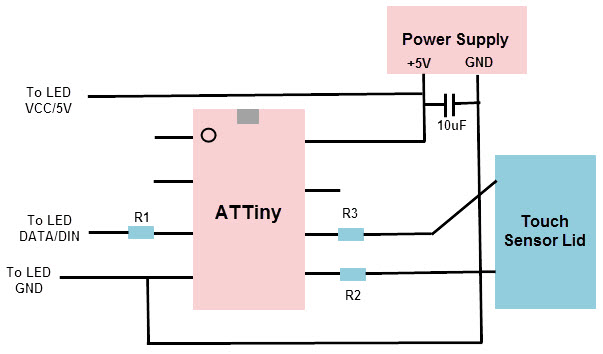 Solder the Components and ATTiny