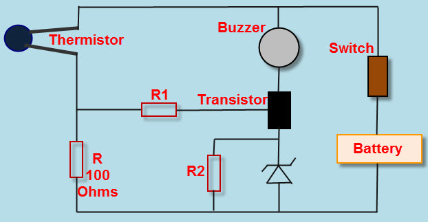 Heat Detector Circuit And Working Electronic Circuits