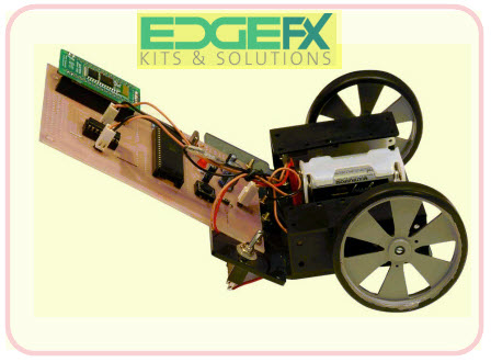 Voice Controlled Robot by Cell Phone with Android Application project Kit by Edgefxkits.com