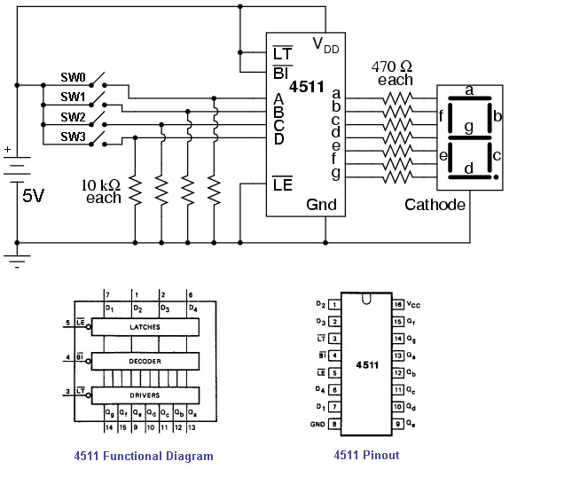 BCD To Seven Segment Display Circuit