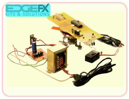 Virtual Display of Message by Propeller Driven LEDs project Kit by Edgefxkits.com