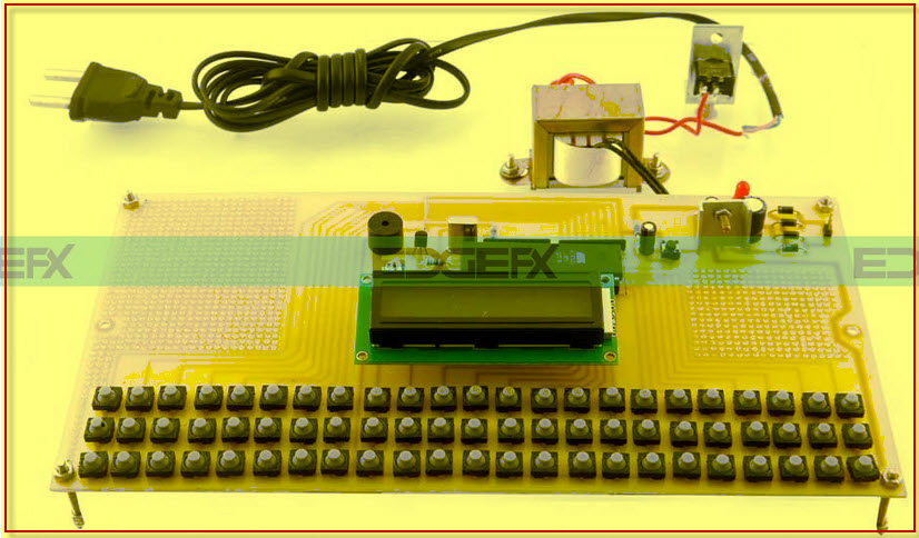 EVM Electronic Voting Machine  Project Kit by edgefxkits.com