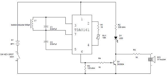 simple metal detector circuit with applications rh elprocus com Metal Detector Schematic Circuit Diagram Metal Detector Schematic and Board