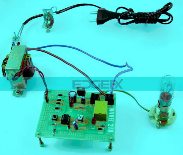 Time Delay Based Relay Operated Load Project Kit