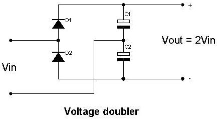 voltage doubler circuit using 555 timer with working, Wiring circuit