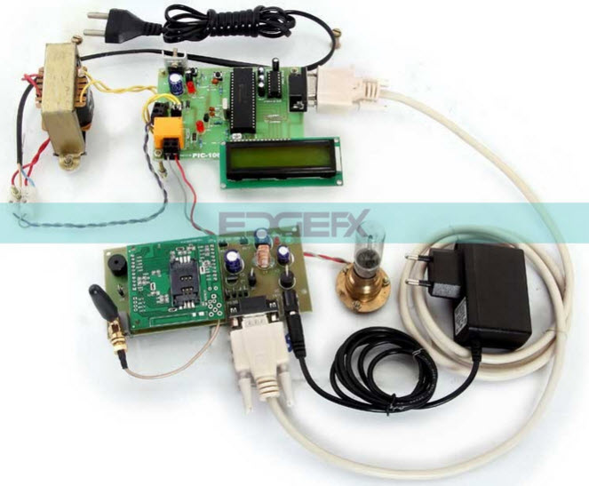 GSM based Vehicle Theft Intimation to the Owner on his Cell Phone Using PIC Microcontroller Project Kit by Edgefxkits.com