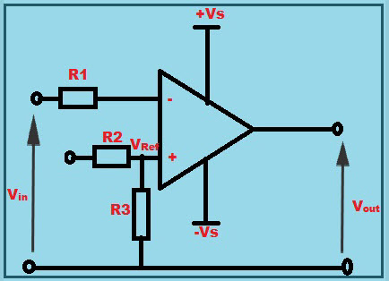 Op Amp as Comparator Circuit Diagram Working Operation