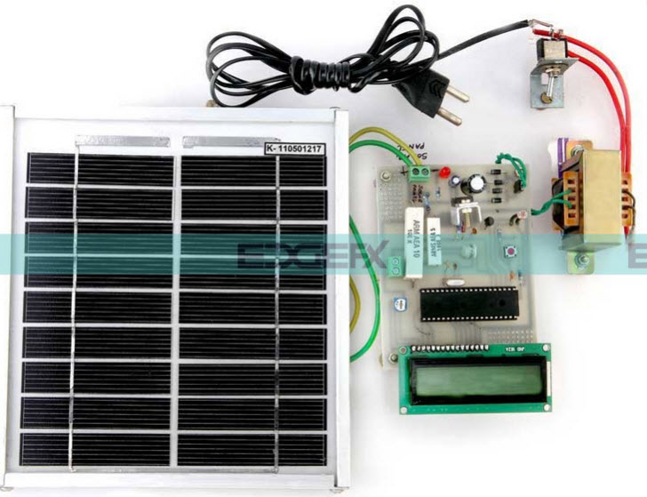 PIC Microcontroller based Solar Photovoltaic Power Measuring Project Kit by Edgefxkits.com