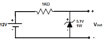 zener diode working with circuit diagram and applications rh elprocus com schematic diagram zener diode circuit diagram of zener diode in reverse bias