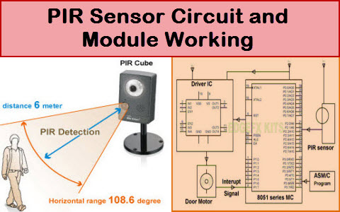 pir sensor circuit and working with applications rh elprocus com pir sensor circuit diagram pir motion sensor circuit diagram pdf